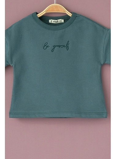 Cigit Be Yourself Sweatshirt Yeşil